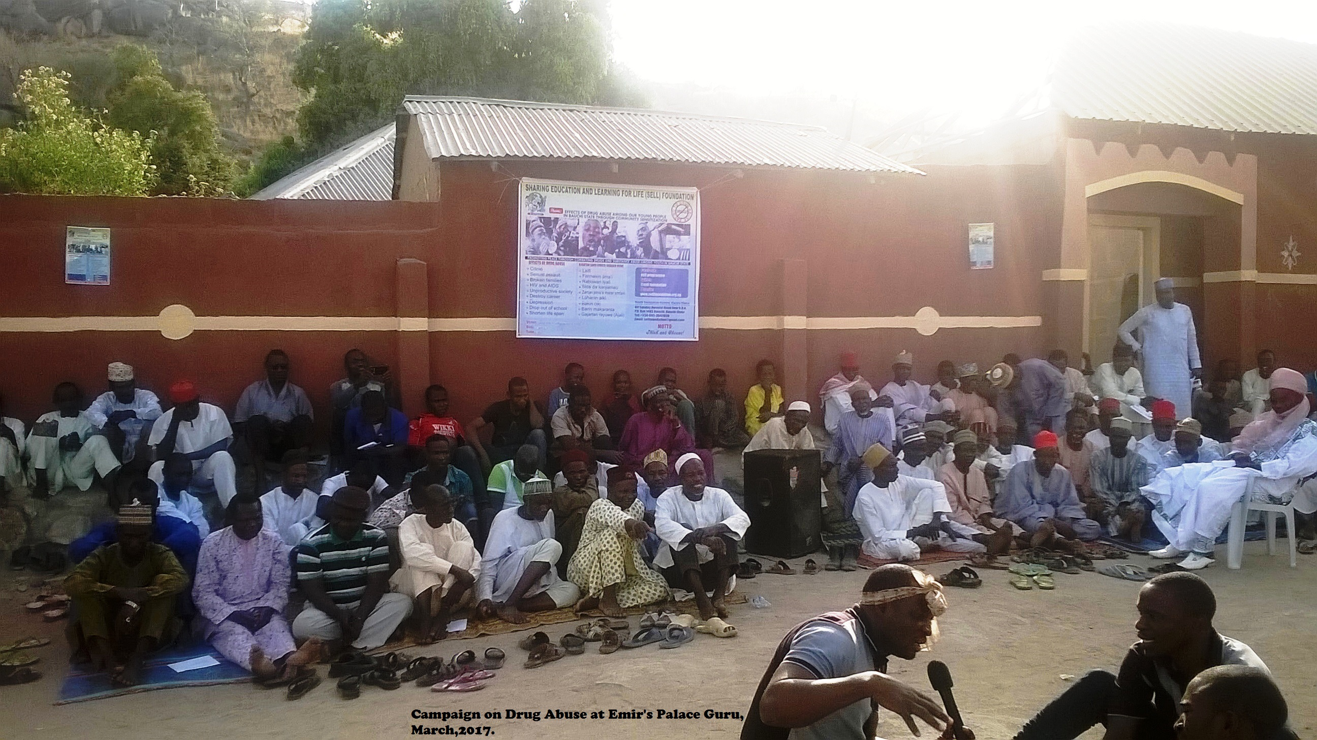 Cross Section of Participants During Awareness Campaign on Drug Abuse at Emir's Palace Guru, March,2017.