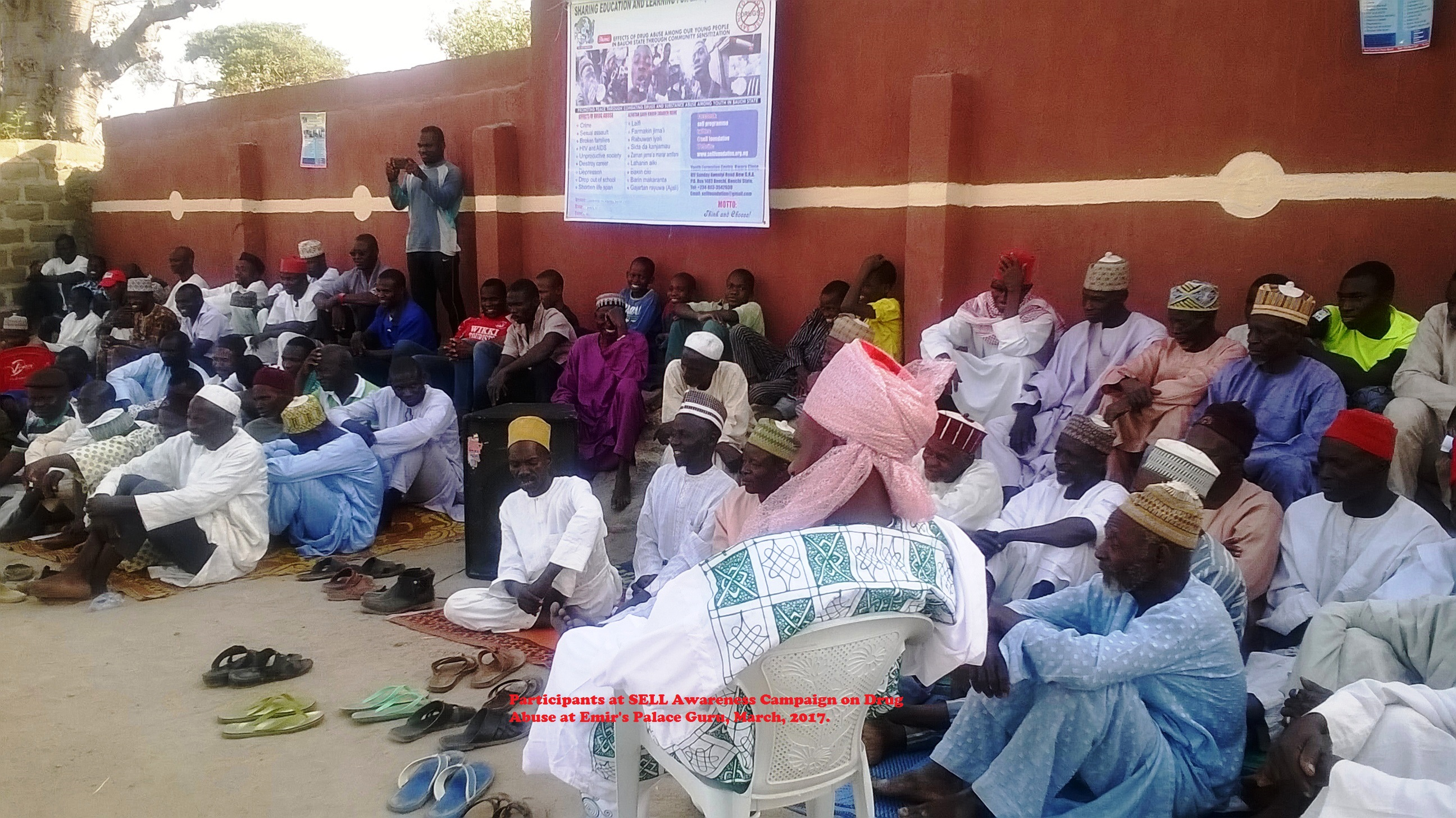 Participants at SELL Awareness Campaign on Drug Abuse at Emir's Palace Guru, March, 2017.