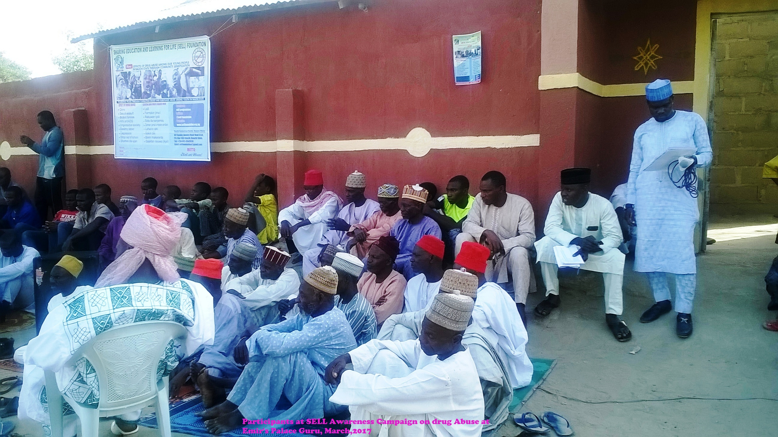 participants at SELL Awareness Campaign on drug Abuse at Emir's Palace Guru, March,2017